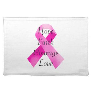 Pink  Ribbon Faith Placemat