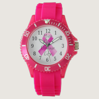 Pink Ribbon Faith Watch