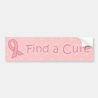 Pink Ribbon - Find a Cure Car Bumper Sticker