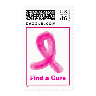Pink Ribbon, Find a Cure Postage Stamp