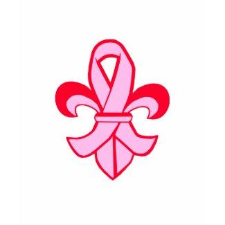 Pink Ribbon Fleur de Lis shirt