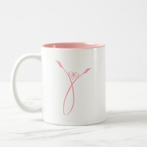 Pink Ribbon Flower zazzle_mug