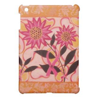 Pink Ribbon & Flowers: Breast Cancer Awareness iPad Mini Case