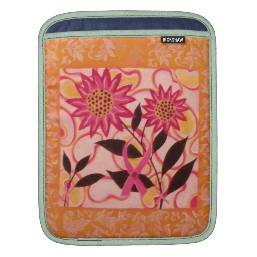 Pink Ribbon & Flowers: Breast Cancer Awareness Sleeves For iPads