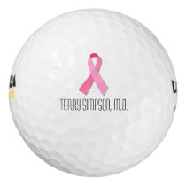 Pink Ribbon for Breast Cancer Awareness Golf Balls
