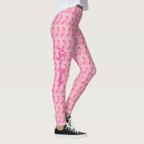 Pink Ribbon for Breast Cancer Awareness Leggings