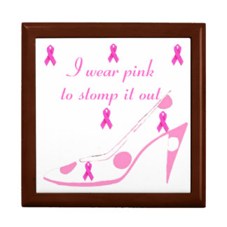 Pink Ribbon for Breast Cancer Gift Box