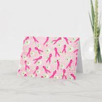 pink ribbon for breast cancer survivor card