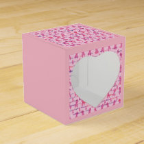 Pink Ribbon for Cancer Awareness Favor Box