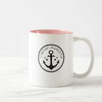 Pink Ribbon For My Aunt Breast Cancer Awareness Two-Tone Coffee Mug
