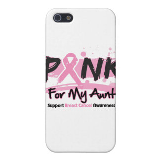 Pink Ribbon For My Aunt Breast Cancer Cover For iPhone 5