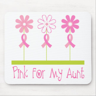 Pink Ribbon For My Aunt Mouse Pad