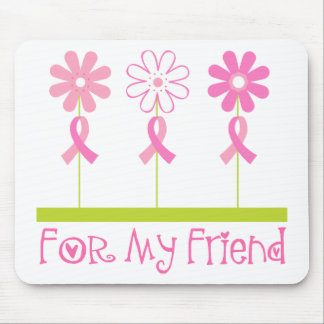 Pink Ribbon For My Friend Mouse Pad