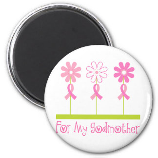 Pink Ribbon For My Godmother Refrigerator Magnets