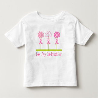 Pink Ribbon For My Godmother Toddler T-shirt