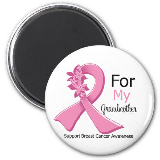 Pink Ribbon For My Grandmother - Breast Cancer Refrigerator Magnets
