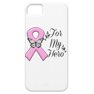 Pink Ribbon For My Hero Breast Cancer Awareness iPhone SE/5/5s Case