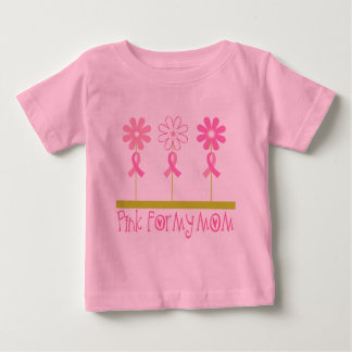 Pink Ribbon For My Mom Baby T-Shirt