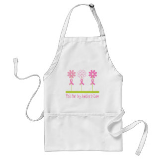 Pink Ribbon For My Mother In Law Adult Apron