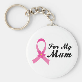 Pink Ribbon For My Mum Keychain