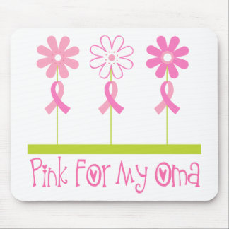 Pink Ribbon For My Oma Mouse Pad