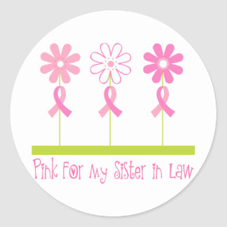 Pink Ribbon For My Sister In Law Stickers