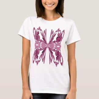 Pink Ribbon Fractal Art T-Shirt
