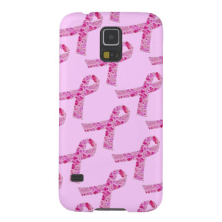 Pink Ribbon Fractal Galaxy S5 Cover