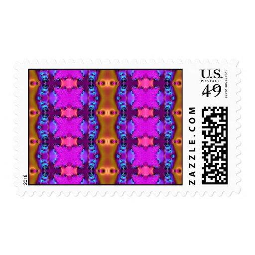 Pink Ribbon Fractal Stamp