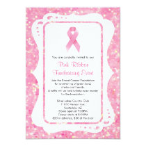 Pink Ribbon Fundraising Event Invitation