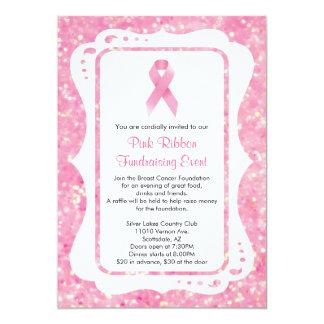 Fundraising invitations announcements zazzle pink ribbon fundraising event invitation stopboris Choice Image