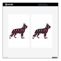Pink Ribbon German Shepherd Kindle Fire Decal