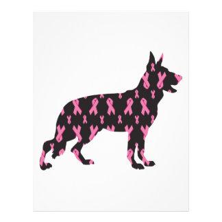 Pink Ribbon German Shepherd Letterhead
