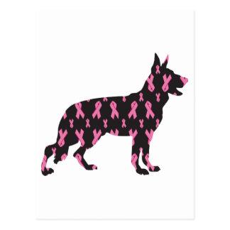 Pink Ribbon German Shepherd Postcard