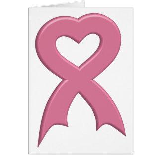 Pink-Ribbon-Heart-3D Greeting Card