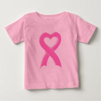 Pink Ribbon Heart Baby T-Shirt