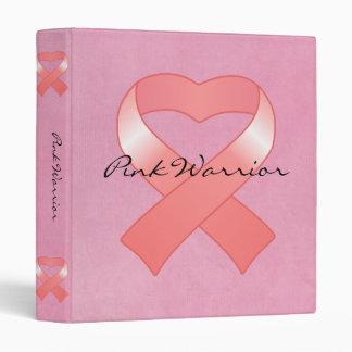 Pink Ribbon Heart Binder