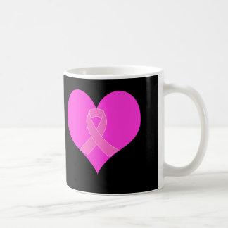 Pink Ribbon & Heart Breast Cancer Charity Design Coffee Mug