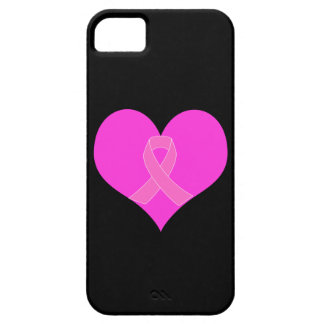 Pink Ribbon & Heart Breast Cancer Charity Design iPhone SE/5/5s Case