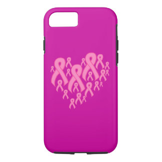Pink Ribbon Heart iPhone 7 Case