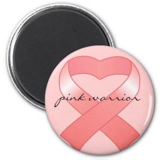 Pink Ribbon Heart Magnet