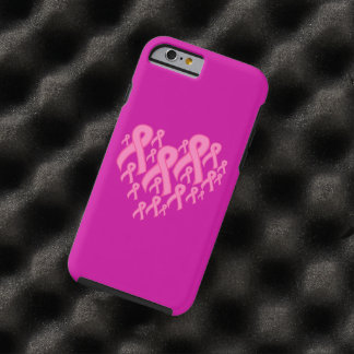 Pink Ribbon Heart Tough iPhone 6 Case
