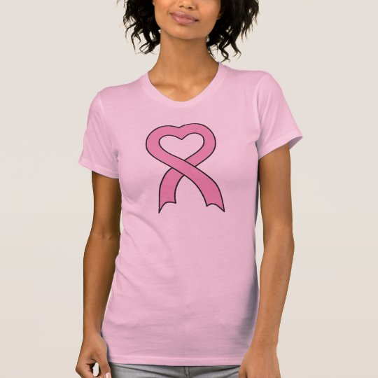 Pink Ribbon Heart Women's T-Shirt