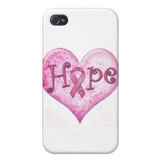 Pink Ribbon Hope Breast cancer awareness iPhone 4/4S Cover