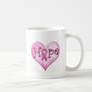 Pink Ribbon Hope Breast cancer awareness Mug