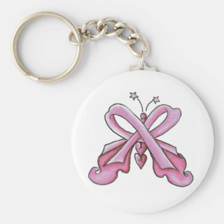 Pink Ribbon Hope Butterfly Keychain