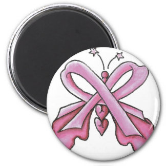 Pink Ribbon Hope Butterfly Magnet