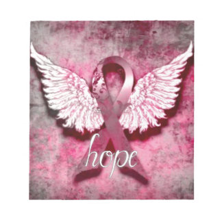 Pink Ribbon Hope by Vetro Designs Notepad