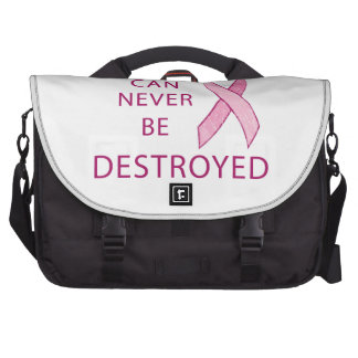 Pink Ribbon Hope can never be destroyed Bag For Laptop