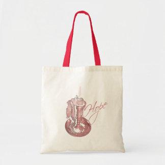 Pink Ribbon - Hope Candle Tote Bag